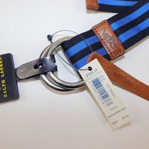 Polo by Ralph Lauren Accessories - NWT RALPH LAUREN Blue Striped Web D-Ring Belt